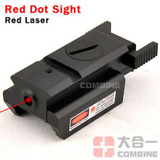 Tactical Compacto 1mW 650nm Rojo Punto Laser Sight Rail Mount 20mm para Pistols