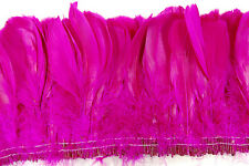 """12"""" NAGORIE FRINGE DYED - FUCHSIA 6-8"""" Trim Feathers Hats Costume Halloween"""