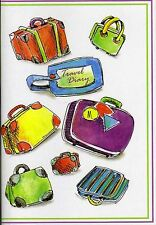 NEW Travel Diary Journal World Maps Trip Holiday A5 Slipcover Checklist  Luggage