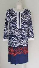 Diane von Furstenberg Achelle Scribble Lines Placement blue dress tunic 6 white