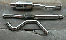 "Acura Integra RS/GS/LS Stainless Rear 4"" Tip Cat Back Exhaust System Bolt On"