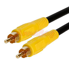 12 FT Premium RCA Digital Coax Coaxial Audio Video Cable Subwoofer Cord 12 FT