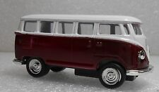 1962 VW Bus Camper Auto Scale Model Replica Miniature 1:64 Tiny Toy Van Red