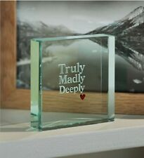 Spaceform Paperweight Truly Madly Deeply Valentine Gift Ideas Him Men & Her 0961