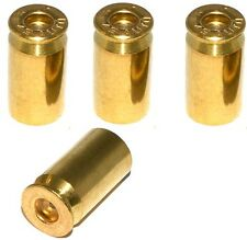 4 Real 45 Cal ACP - Brass Bullet Casing Air Valve Stem Cap - Car Truck SUV Rim