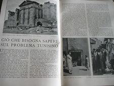 vecchio articolo 1939 TUNISIA TEMPIO SBEITLA ANTICA SUFETULA CARTAGINE FOTO