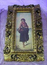 Altes Ölgemälde Sizilianische Orangenverkäuferin Sicilia um 1880 Wien Vienna