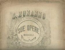 Spartito Capriccio in Do Minore di Giovanni Bonanno 1870 Calcografia Sicula