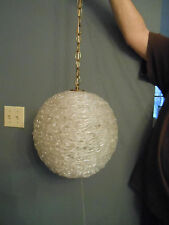 vintage retro mid century spaghetti hanging swag light lamp acrylic clear