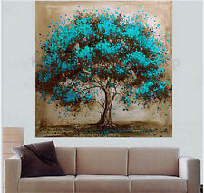 MODERN Hand-painted ABSTRACT Oil Painting Tree Wall Art On Canvas no framed