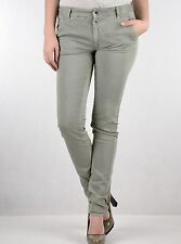 "Gas Womens Grey Green Noal Pants 27"" x 33"" BNWT Slim Stretch Jeans 365613 6 8"