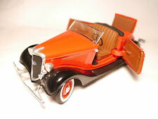 Ford V8 Roadster 1934 in rot rouge roja rosso red / schwarz black, Solido 1:18!