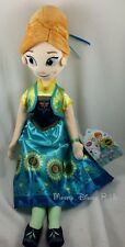 "New Genuine Disney Store ANNA Frozen Fever 20"" Spring Summer Plush Toy Doll"