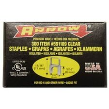 Insulated Staples for Arrow T-59 Staple Gun, Clear, 5/16 Inch,  Qty 300