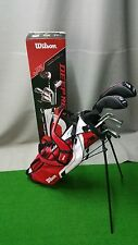 Wilson Deep Red Jr Golf, 10 Pce Kids Set, Large (12-14yrs),  RH, Red -NEW MODEL!