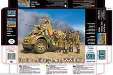 NEW PLASTIC KIT ITALIAN MILITARY MEN WWII ERA 1/35 MASTER BOX 35144 NEW
