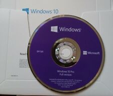 New Sealed Microsoft Windows 10 PRO Professional 64 Bit  - DVD and Product Key