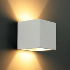 "LED in ceramica forma cubo MURO LUCE ""plaster-2"" G9 3W 250LM INDOOR Warm paintable!"