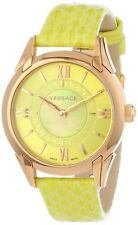 Versace Women's VFF050013 Dafne Rose Gold Ion Plated Steel Yellow Leather Watch