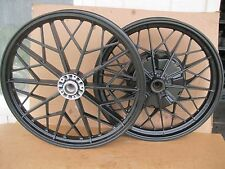 "BMW Airhead R100 Snowflake Powder Coated 19"" Front & 18"" Drum Brake Rear Wheel"