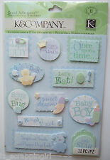 ~SWEET PEA LITTLE PRINCE~ GRAND ADHESIONS Stickers K & CO Company BABY BOY WORDS