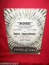 HANLEY Rose dal Film La rosa di Washington + Dolce imprudenza OST Spartito 1951