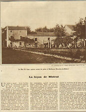 13 MAILLANNE MISTRAL ARTICLE DE PRESSE PAR MAURICE MARTIN 1930