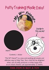 My Wee Friend Colour Changing Potty Training Aid Sticker - Smiley Puppy Dog