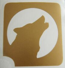 GT256 Body Art Temporary Glitter Tattoo Stencil  Wolf