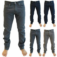 Crosshatch Mens Designer Branded New Slim Fit Straight Leg Jeans Trousers Size