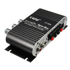 LEPY MINI CAR HOME STEREO HI FI AMPLIFIER 2 CHANNEL FOR IPOD MP3 PC DVD CD ED