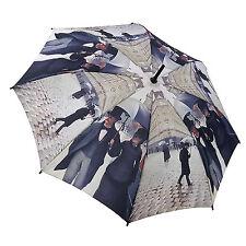 """Soake-Galleria Caillebotte """"día lluvioso"""" Paraguas Plegable Automático en Caja De Regalo"""