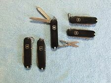Victorinox Swiss Army Knives Classic SD Lot of 5 - Black Scales