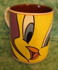 LOONEY TUNES 1998 TWEETY BIRD COFFEE MUG~WARNER BROS.~PURPLE & YELLOW~ BY GIBSON