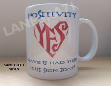 "PRINCE "" LOVESEXY  "" album POSITIVITY , YES  part lyric White Coffee Mug **NEW**"