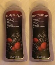 New Lot of 2 Bodycology Blackberry Vanilla Foaming Body Wash 16 fl oz x 2