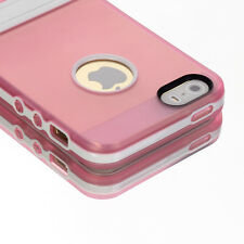 Stand Shockproof Rubber Hybrid Rugged Protective Cover Case for iPhone 5 5S