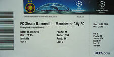 VIP TICKET UEFA CL 2016/17 Steaua Bukarest - Manchester City