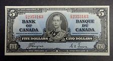 1937 - $5 Canadian Banknote, Uncirculated,Very Rare
