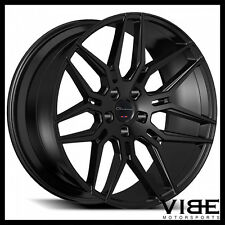 "22"" GIOVANNA BOGOTA GLOSS BLACK CONCAVE WHEELS RIMS FITS RANGE ROVER HSE SPORT"