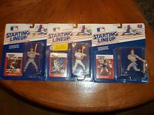 1988 STARTING LINEUP SPORTS SUPER STARS WADE BOGGS, DON MATTINGLY & DALE MURPHY