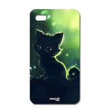CUSTODIA COVER CASE GATTO CAT CARTOON NIGHT PER IPHONE 5C