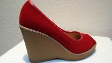 SALE! Cute Red Peep Toe Baby Doll Platforms Shoes  10