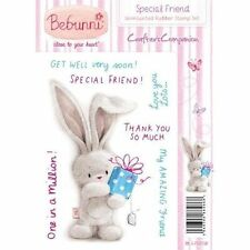 New Crafters Companion  Unmounted Rubber Stamp Bebunni Special Friend