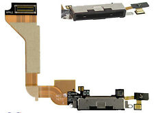 Original Negro Iphone 4 Dock Asamblea Mic sync/charging Usb Flex Cable Original