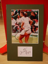 Martina Hingis genuine signed & mounted Tennis Card & Photo Display - C.O.A.