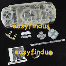 PSP 2000 Slim Full Housing Case repair replacement transparent crystal new