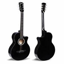 "38"" Black Acoustic 6 String Guitar Beginners School Student Adults Xmas Birthday"