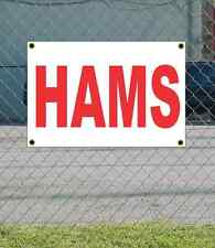2x3 HAMS Red & White Banner Sign NEW Discount Size & Price FREE SHIP
