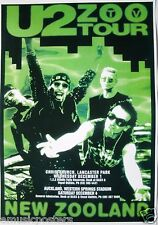 "U2 ""ZOO TV TOUR - NEW ZOOLAND"" 1993 CONCERT POSTER FROM NEW ZEALAND"